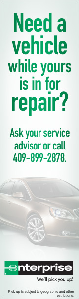Enterprise can provide a loaner vehicle, call 409-899-2878
